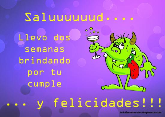 felicitar cumpleaños con brindis