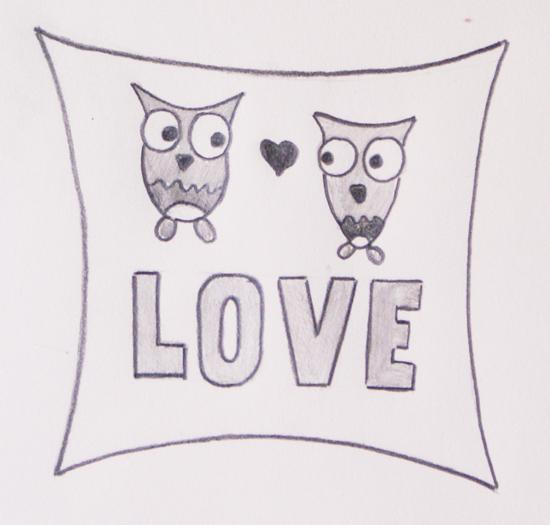 tus tarjetas de amor a lápiz