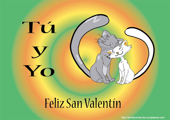 tarjetas de amor con gatos