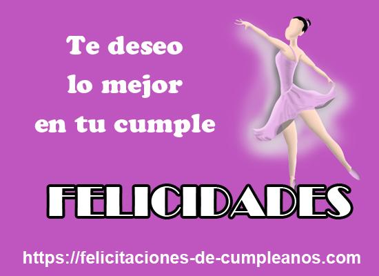 feliz cumpleaños con una bailarina