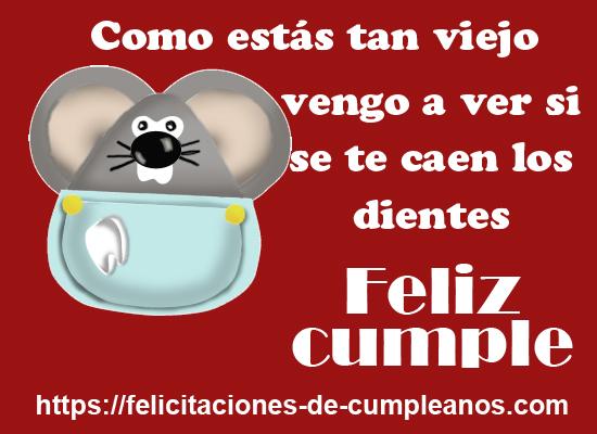 el raton perez saluda el cumpleaños