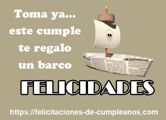 feliz cumpleaños en barco