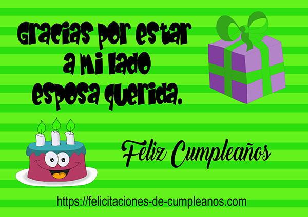 tarjeta verde para el cumpleaños
